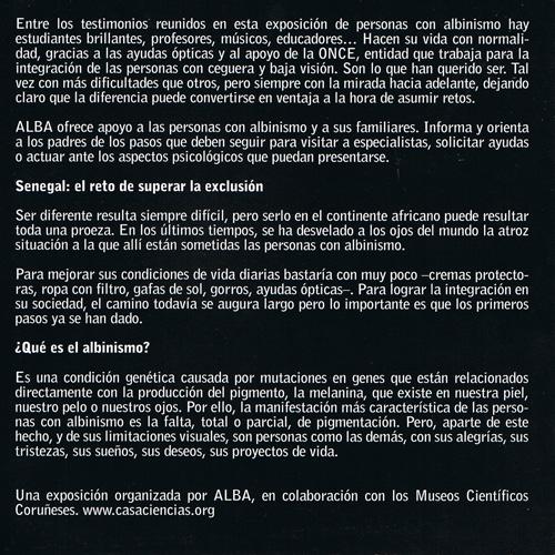 Exposicion DOMUS: Albinismo, una condición genética, dos realidades: España y Senegal